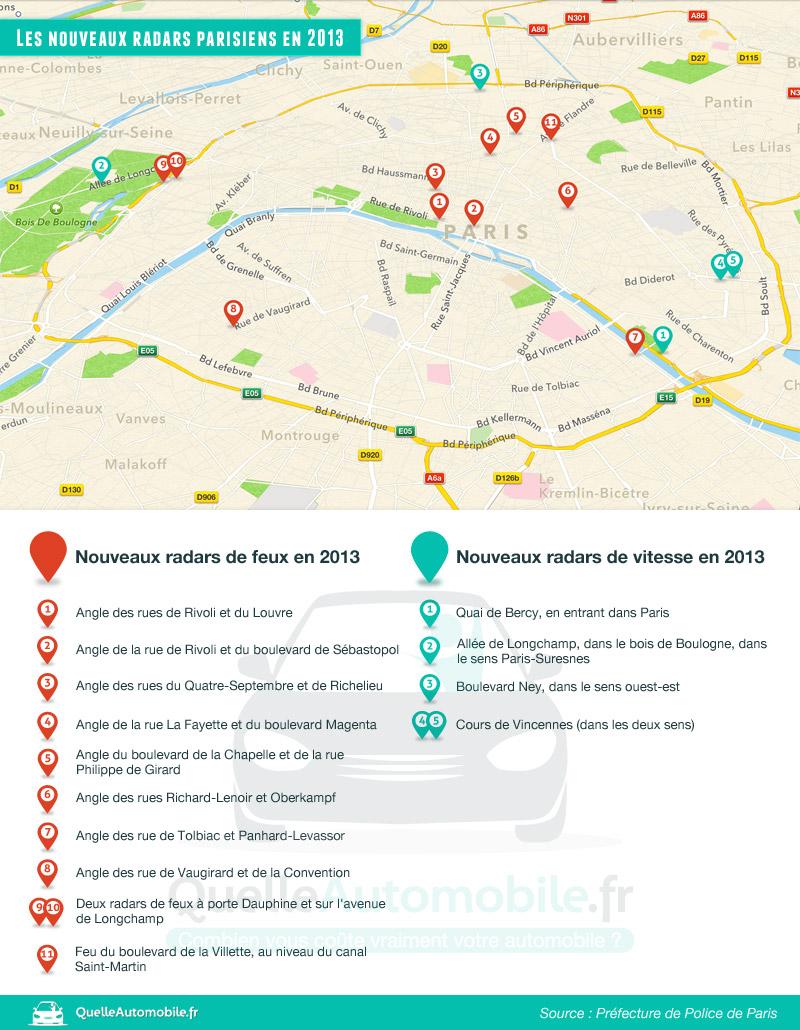 nouveaux radars parisiens pour 2013 motards idf. Black Bedroom Furniture Sets. Home Design Ideas